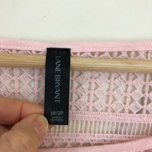 Lane Bryant Tops - Lane Bryant Crochet Yoke Top in Light Pink